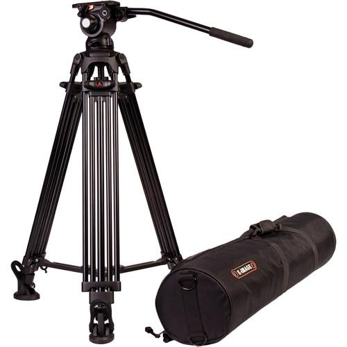 E-Image Two Stage Aluminum Tripod Legs with GH03 Head EG03A2