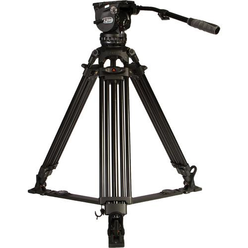 E-Image Two Stage Aluminum Tripod with GH15 Head (100mm) EG15A2