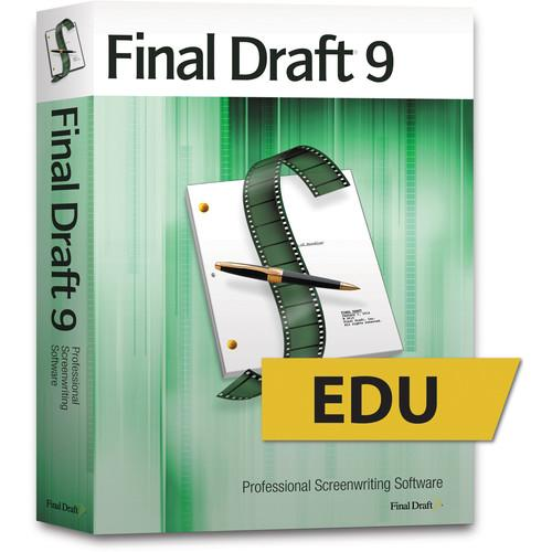 Final Draft 9 Educational Screenwriting Software (DVD) FD9-EDU
