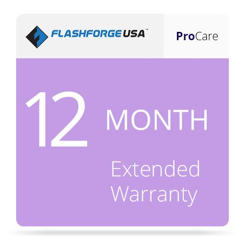 Flashforge ProCare 12-Month Extended Warranty 3D-FFG-12MO
