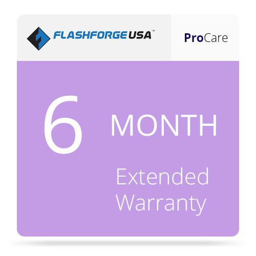 Flashforge ProCare 6-Month Extended Warranty 3D-FFG-6MO