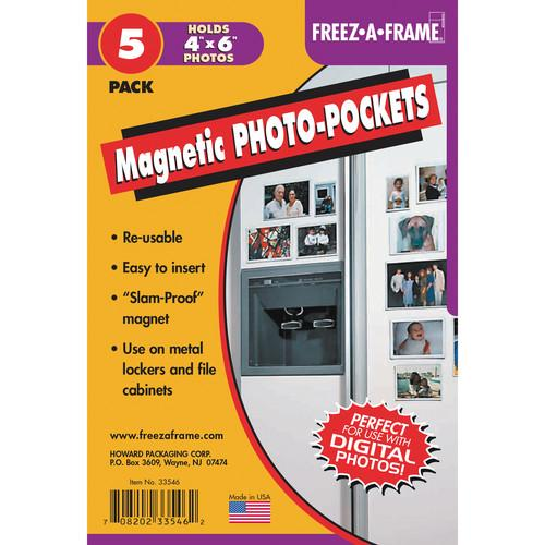 FREEZE-A-FRAME Magnetic Photo Pockets (4 x 6