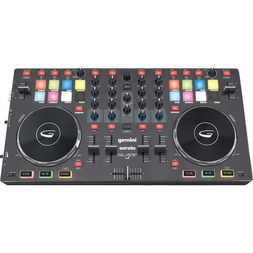 Gemini SLATE 4 4-Channel Slim Virtual DJ with Serato DJ SLATE 4