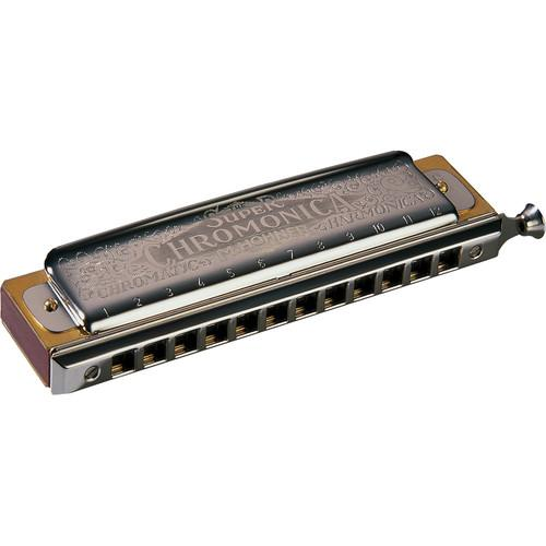Hohner Super Chromonica Harmonica With Retail Box 270BX-B