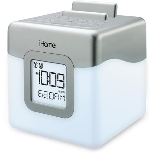 user manual ihome led dual alarm fm radio speaker system ihm28wc rh pdf manuals com ihome instruction manual clock radio ihome user manual id38