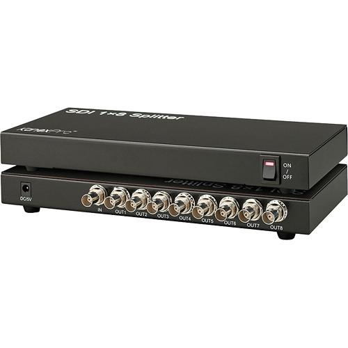 KanexPro 3G-SDI 1x8 Splitter with Re-Clock Technology SP-SDIX8
