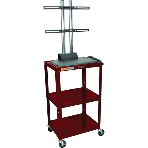 Luxor AVJ42DL-LCD Height Adjustable Steel A/V Cart AVJ42-LCD-BY