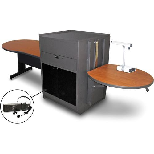 Marvel Vizion Keyhole Table with Media Center MVMTKA4830CHDT-E