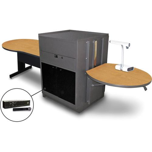 Marvel Vizion Keyhole Table with Media Center MVMTKA4830OKDT-H