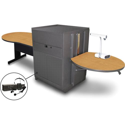 Marvel Vizion Keyhole Table with Media Center MVMTKM4830OKDT-E