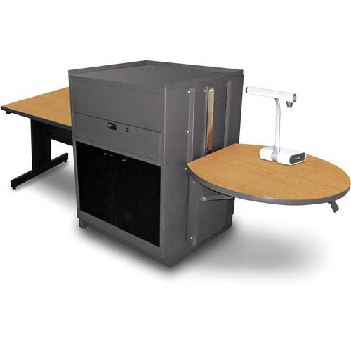 Marvel Vizion Rectangular Table with Media Center MVMTRA3630OKDT