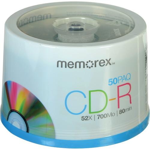 Memorex CD-R 700MB 52x Write-Once Recordable Discs 04563