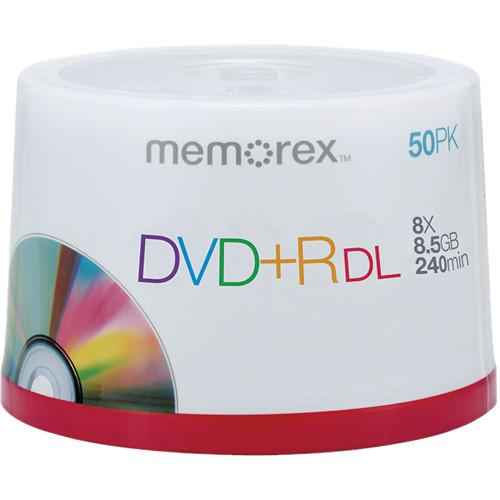 Memorex  DVD R 8.5GB 8x Double Layer Discs 05732