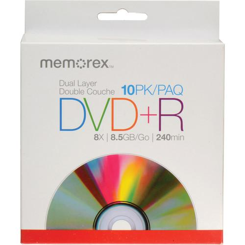 Memorex  DVD R 8.5GB 8x Double Layer Discs 05844
