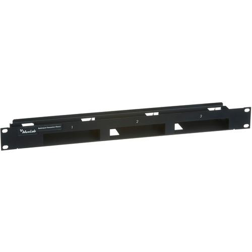 MuxLab 1U Rack-Mountable Transceiver Chassis (Black) 500905