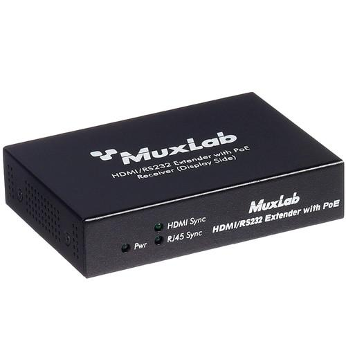 MuxLab HDMI / RS-232 Receiver with PoE 500454-POE-RX