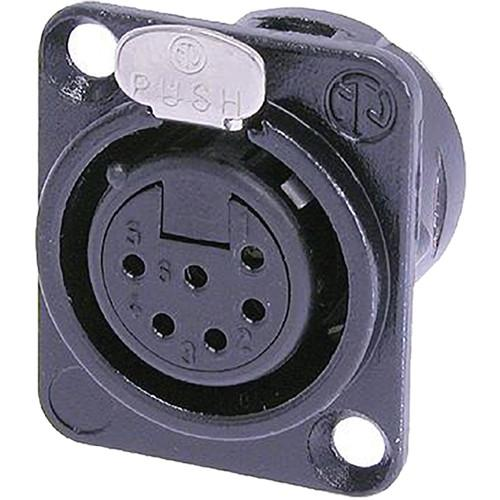 Neutrik NC6FD-L-B-1 Female Receptacle Connector NC6FD-L-B-1