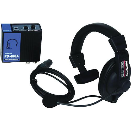 Nipros FD-400A Wired BNC Intercom System with Belt Pack FD-400A