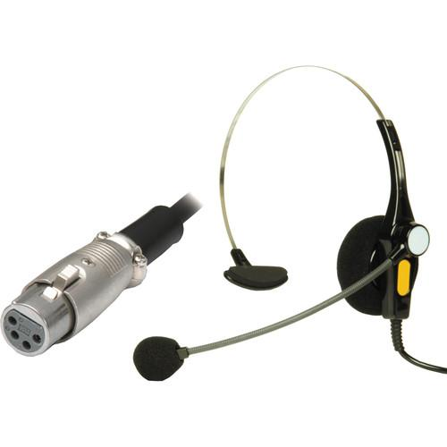 Nipros Single-Ear Intercom Headset with 4-Pin XLR-F DL-400