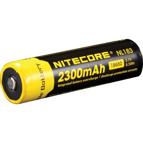NITECORE 18650 Li-Ion Rechargeable Battery (3.7V, 2300mAh) NL183
