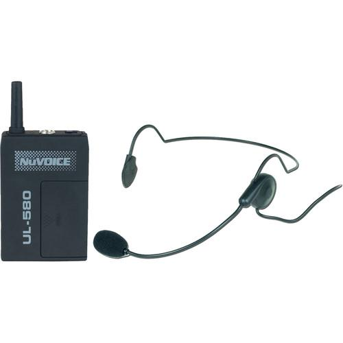 NuVoice ULBP-580 Bodypack Transmitter with Headset UHBP-580-R