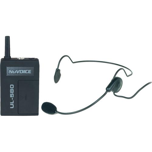 NuVoice ULBP-580 Bodypack Transmitter with Headset UHBP-580-S