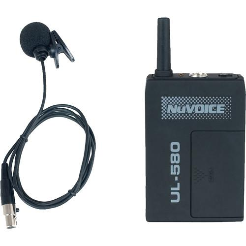 NuVoice ULBP-580 Bodypack Transmitter with Lavalier ULBP-580-R