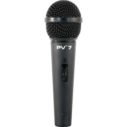 Peavey PV 7 Microphone with XLR to XLR 16.4' Mic Cable 03013490