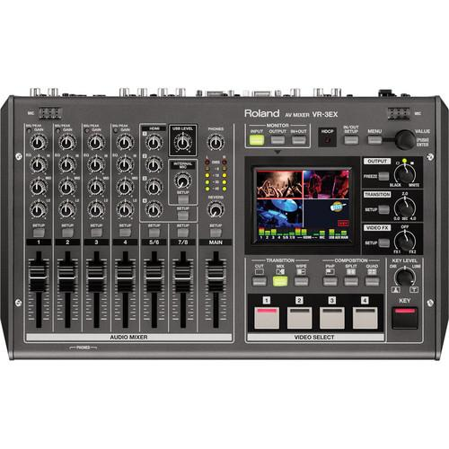 Roland VR-3EX SD/HD A/V Mixer with USB Streaming VR-3EX