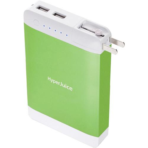 Sanho P18 HyperJuice Plug 18000mAh Dual USB Battery SAHJP18GREEN