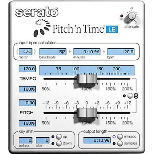 Serato Pitch 'n Time LE 3.0 - Time Stretching and SSW-PT-LE3-UP