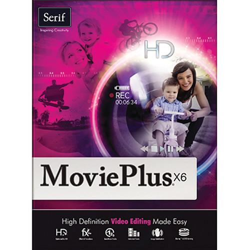 Serif MoviePlus X6 Video Editing Software for Windows MVPX6USESD