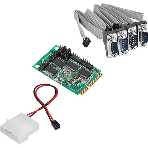 SIIG 4-Port RS232 Serial Mini PCIe with Power JJ-E40111-S1