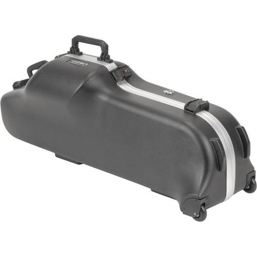 SKB Contoured Pro Baritone Sax Case with Wheels 1SKB-455W