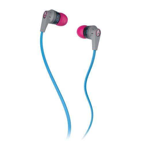 Skullcandy INK'D 2.0 Earbud Headphones (Gray and Cyan)