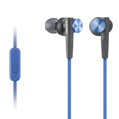 Sony MDR-XB50AP Extra Bass Earbud Headset (Blue) MDRXB50AP/L