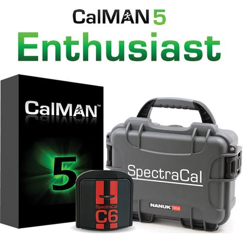 SpectraCal CalMAN Enthusiast Bundle with C6 SC-ASMENTC6