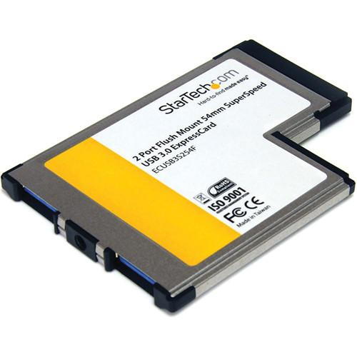 StarTech 2-Port ExpressCard 54mm USB 3.0 Card ECUSB3S254F