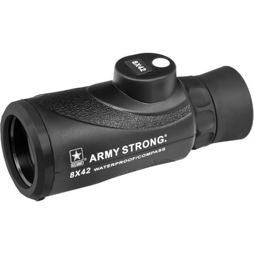 US ARMY 8x42 Waterproof Monocular with Compass US-MC842