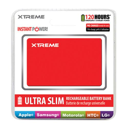 Xtreme Cables Ultra-Thin Power Card Battery Bank (Red) 89184