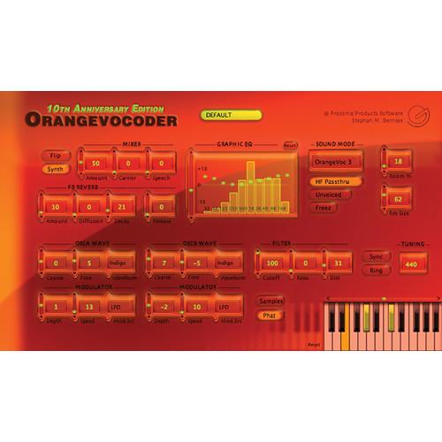 Zynaptiq ORANGE VOCODER AU - Real-Time Vocoder ORANGE VOCODER