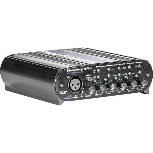 ART HeadAMP 4 Pro - Five Channel Headphone Amplifier HEASAMP4PRO