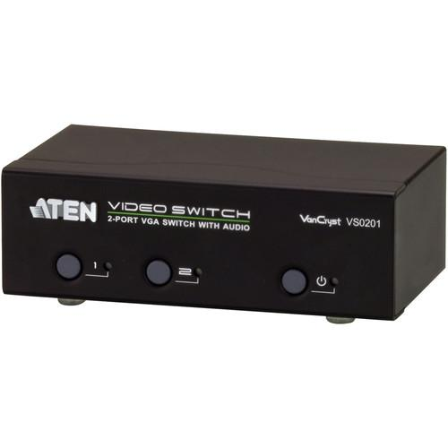 ATEN  VS0201 2-Port VGA Switch with Audio VS0201
