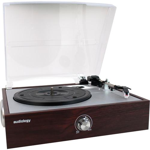 Audiology 3 Speed USB Turntable with Built-In AU-RPUSB-550W