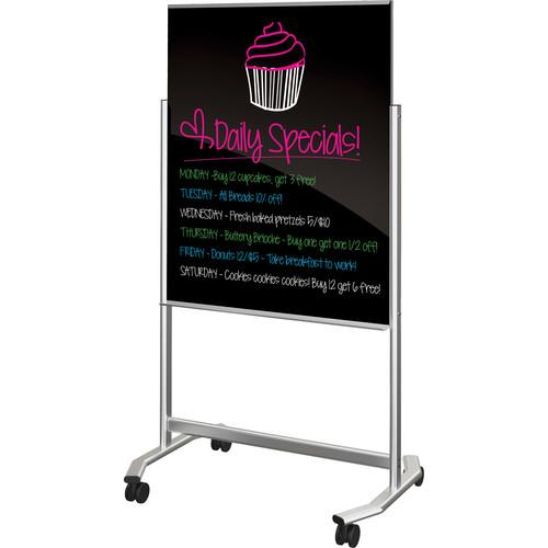 Balt Visionary Move - Mobile Black Glass Whiteboard 74950-B