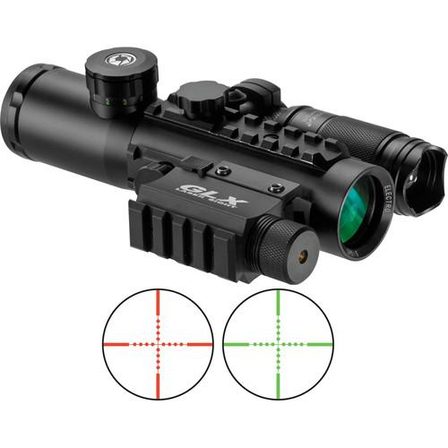 Barska 4x30 IR Electro Sight with Green Laser and DA12188