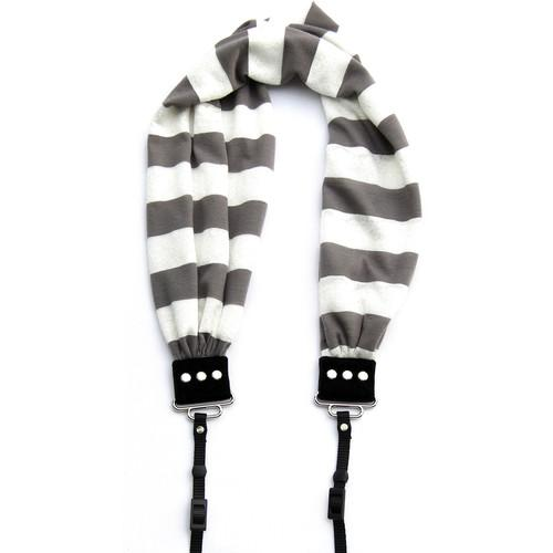 Capturing Couture Scarf Camera Strap (Gray-Striped) SCARF-STGY