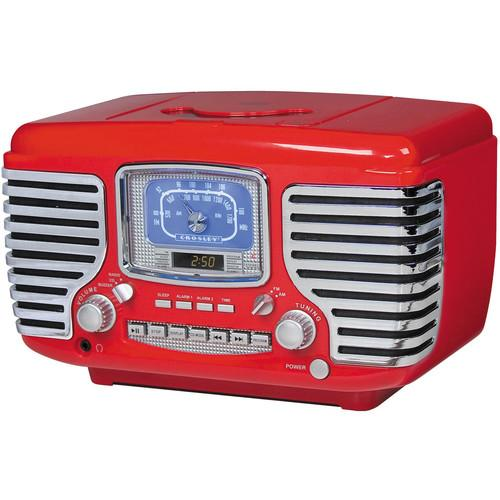 Crosley Radio CR612 Corsair Clock Radio (Red) CR612-RE