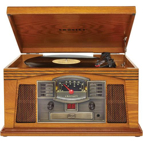 Crosley Radio Lancaster Sound System with Turntable, CR42C-OA
