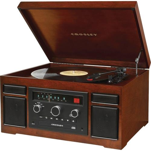 Crosley Radio Patriarch Sound System with Turntable, CR7007A-MA